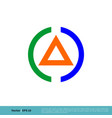 a letter triangle and circle icon logo template vector image vector image