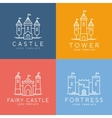 Abstract Castle Line Style Logo Template vector image