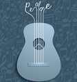 Abstract Guitar and Peace Symbol with Notes vector image vector image