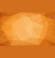 abstract particles over orange background with vector image vector image