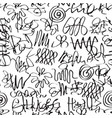 abstract seamless pattern in a graffiti style vector image