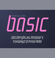 basic display font design alphabet typeface vector image vector image