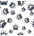bear claw footprint seamless pattern