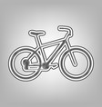 bicycle bike sign pencil sketch vector image vector image