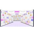big shop empty no people supermarket shopping mall vector image