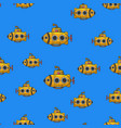 cartoon submarine seamless pattern sketch vector image
