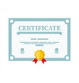 certificate template diploma or accreditation vector image