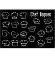 Chef and cook hats caps or toques vector image vector image