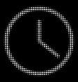 clock halftone icon vector image
