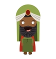 colorful arabic man with turban and beard vector image