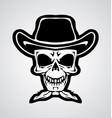 Cowboy Skulls vector image vector image