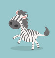 cute zebra cartoon vector image vector image