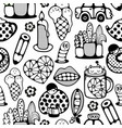 endless pattern with cartoon characters vector image vector image