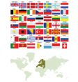 european flags and world map vector image