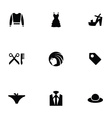 fashion 9 icons set vector image vector image