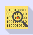find computer virus icon flat style vector image