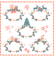 five christmas banners vector image vector image