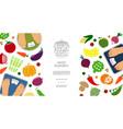 flat healthy diet concept vector image