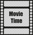 for movie time on a isolated background vector image vector image