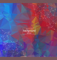 geometric retro polygonal background molecule and vector image vector image