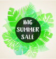 green banner for seasonal summer sale vector image vector image