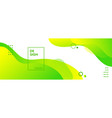 green liquid banner template abstract vector image