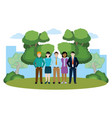 group of friends cartoon vector image vector image
