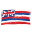 Grunge Hawaii flag vector image vector image