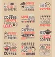 hand drawn coffee restaurant love drink quote vector image