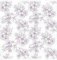 hand drawn sakura seamless pattern vector image