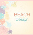 hand drawn tropical palm leaves card vector image vector image