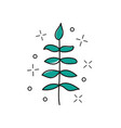 hand drawn twig - stylized plant brush vector image