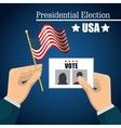 hand hold flag ballot voting usa election graphic vector image