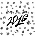 Happy New 2016 Year Holiday With Lettering vector image vector image