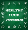 healthy vegetables background vector image