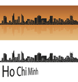 Ho Chi Minh skyline in orange