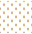 Ice cream pattern cartoon style vector image vector image