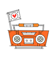 icon radio vector image