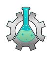 Lab Gear Logo Icon Symbol vector image vector image