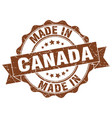 made in canada round seal vector image vector image