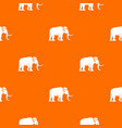 mammoth pattern orange vector image vector image