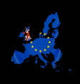 map europe with european union members vector image