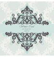nvitation card with damask ornaments vector image