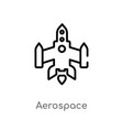 outline aerospace icon isolated black simple line