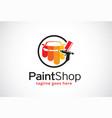 paint shop logo template design