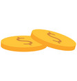 pile coins for clip art vector image