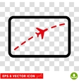 Plane Route Eps Icon vector image