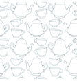 Seamless pattern with decorative cups and teapots vector image