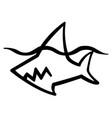 shark stencil vector image vector image