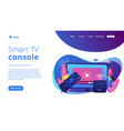 smart tv box concept landing page vector image vector image